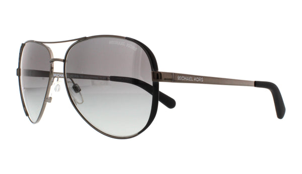 Michael Kors MK5004-101362 Chelsea Sunglasses, Gunmetal aviator polarized black