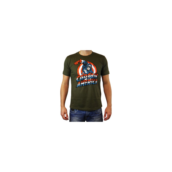Marvel Comics mens T-shirt Captain America