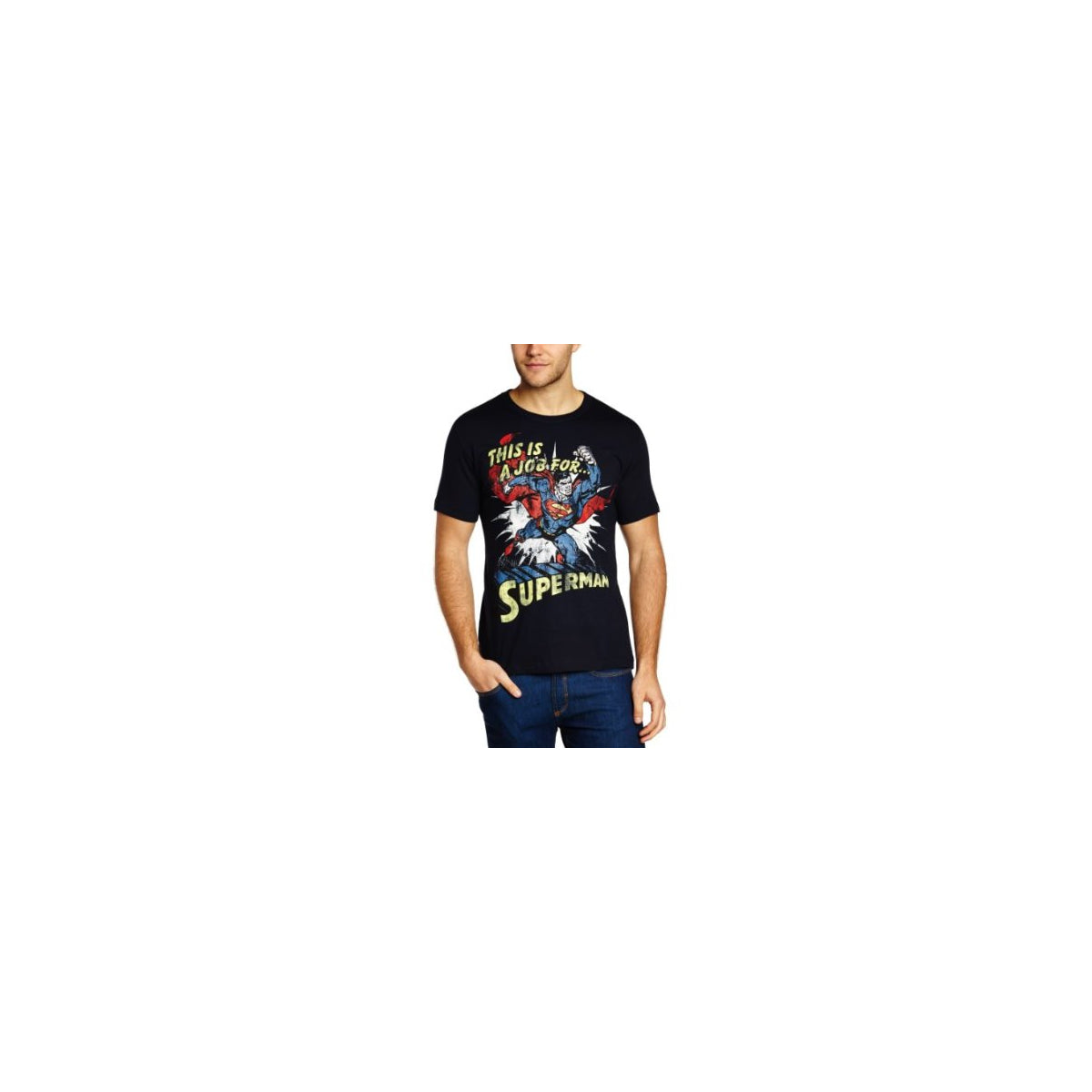 Marvel Comics mens T-shirt This is a job for Superman