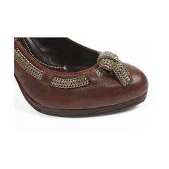 Max Azria ladies pump MA-HELE BROWN