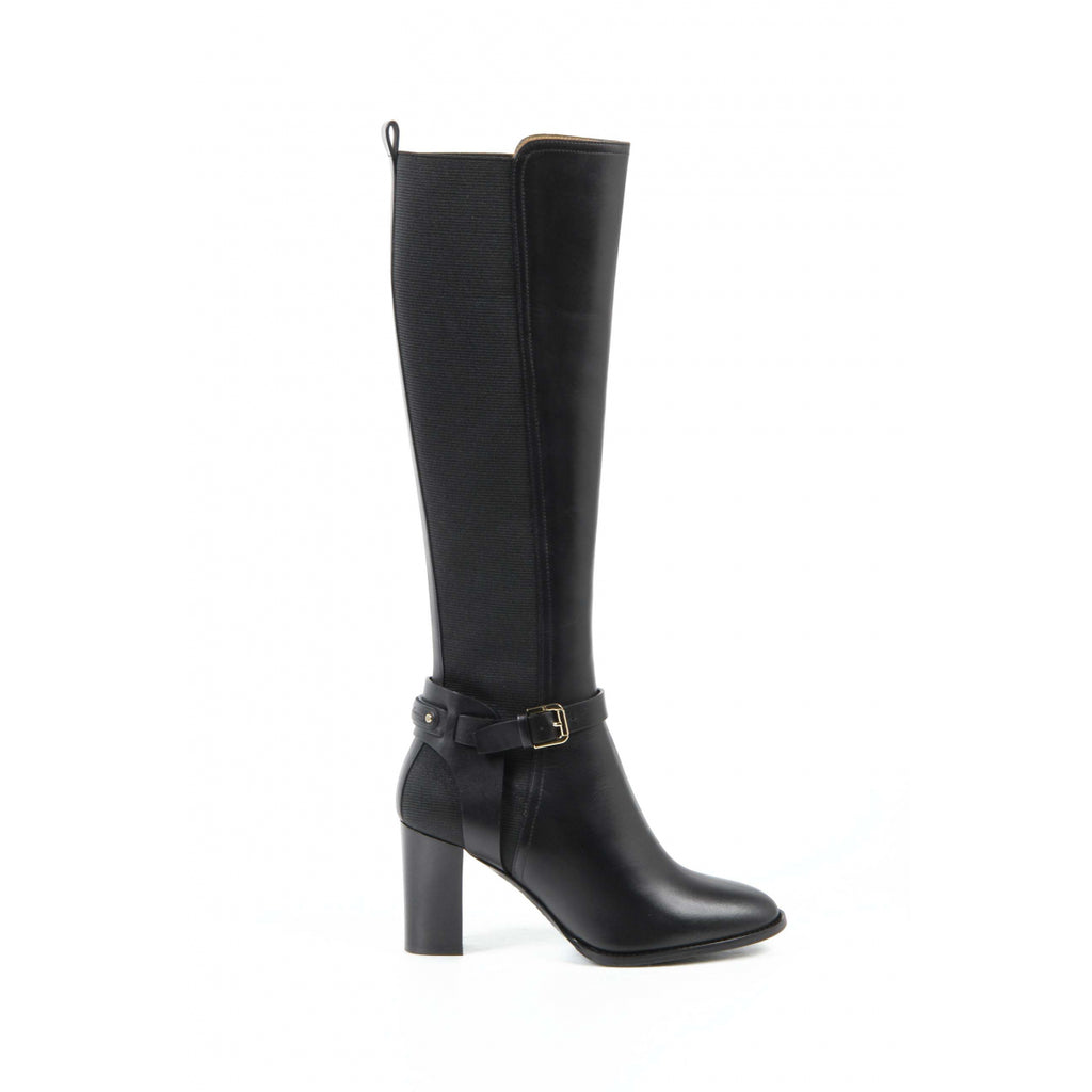 Ralph Lauren Womens High Boot MELA SPORT CALF BLACK - LeCITY