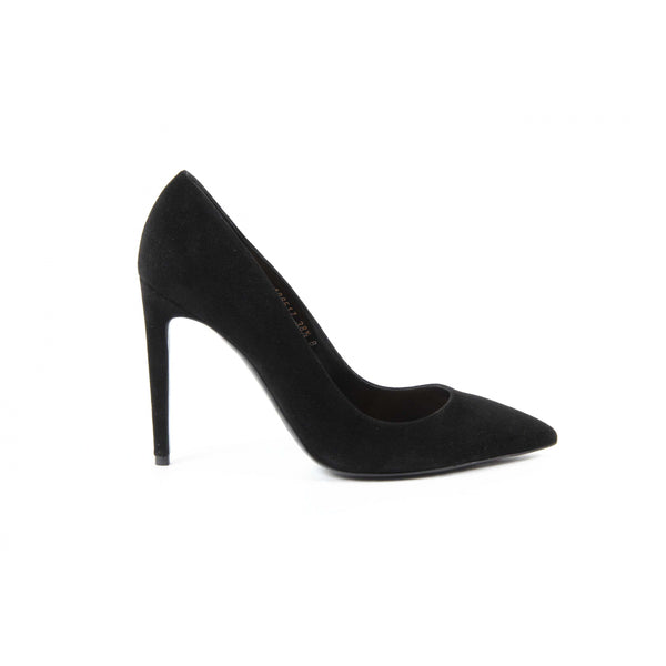 Ralph Lauren Womens Pump CELIA KIDSUEDE BLACK