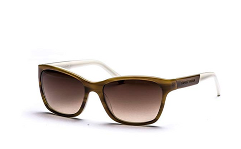 Emporio Armani EA4004 504713 Brown/Stripe EA4004 Square Sunglasses