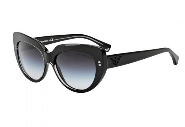 Emporio Armani Sunglasses EA4032 / Frame: Transparent Brown/Dark Brown Lens: Brown Gradient