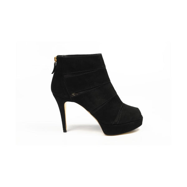 Sebastian Milano ladies ankle boot S4641 CAM SUEDE (Cervino) MC NERO