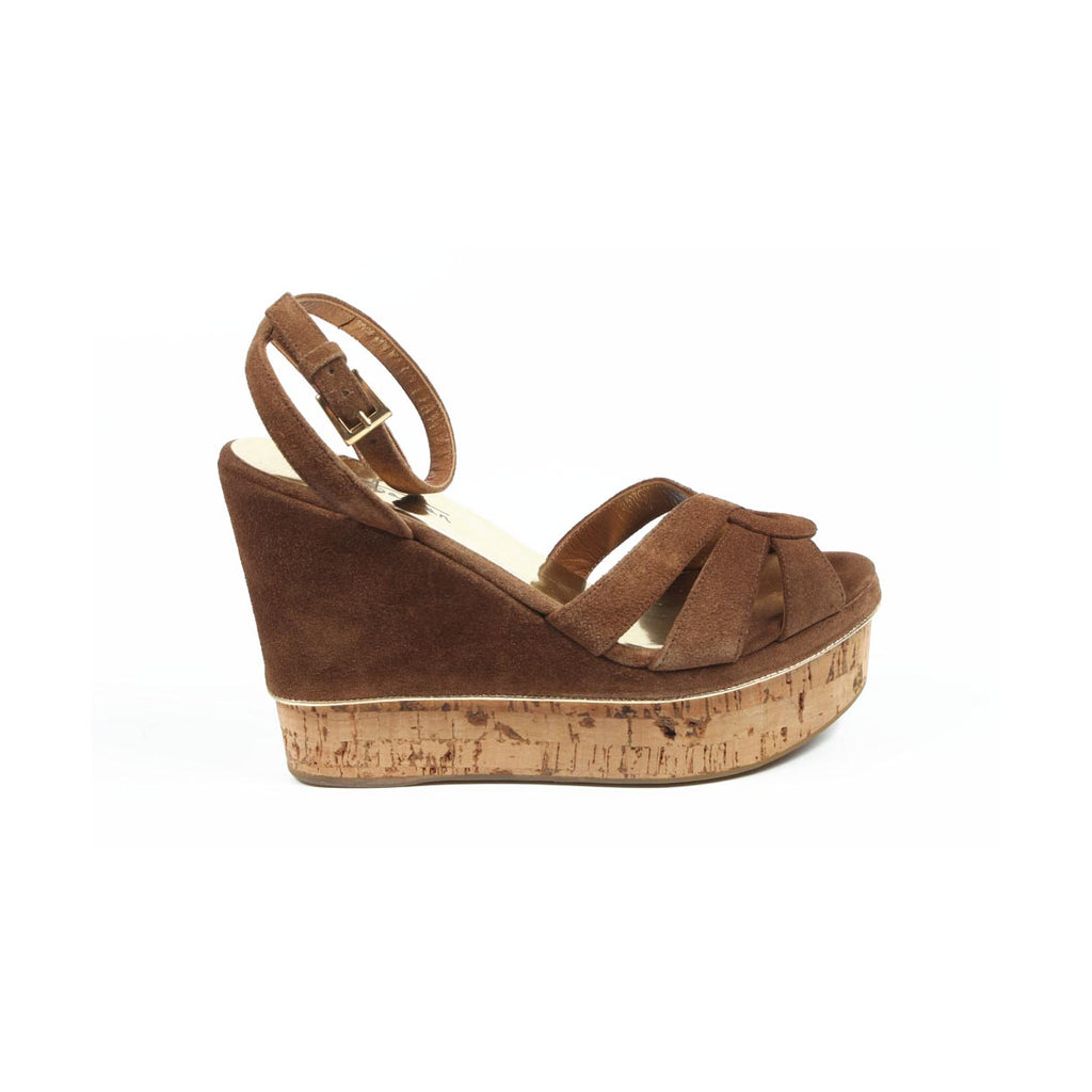 Sebastian Milano Shoes Women Sandals Brown - LeCITY
