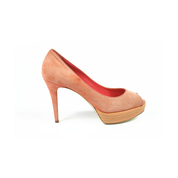 Sebastian Milano ladies pump open toe S4370 CAMOSCIO ML 249 CORALLO