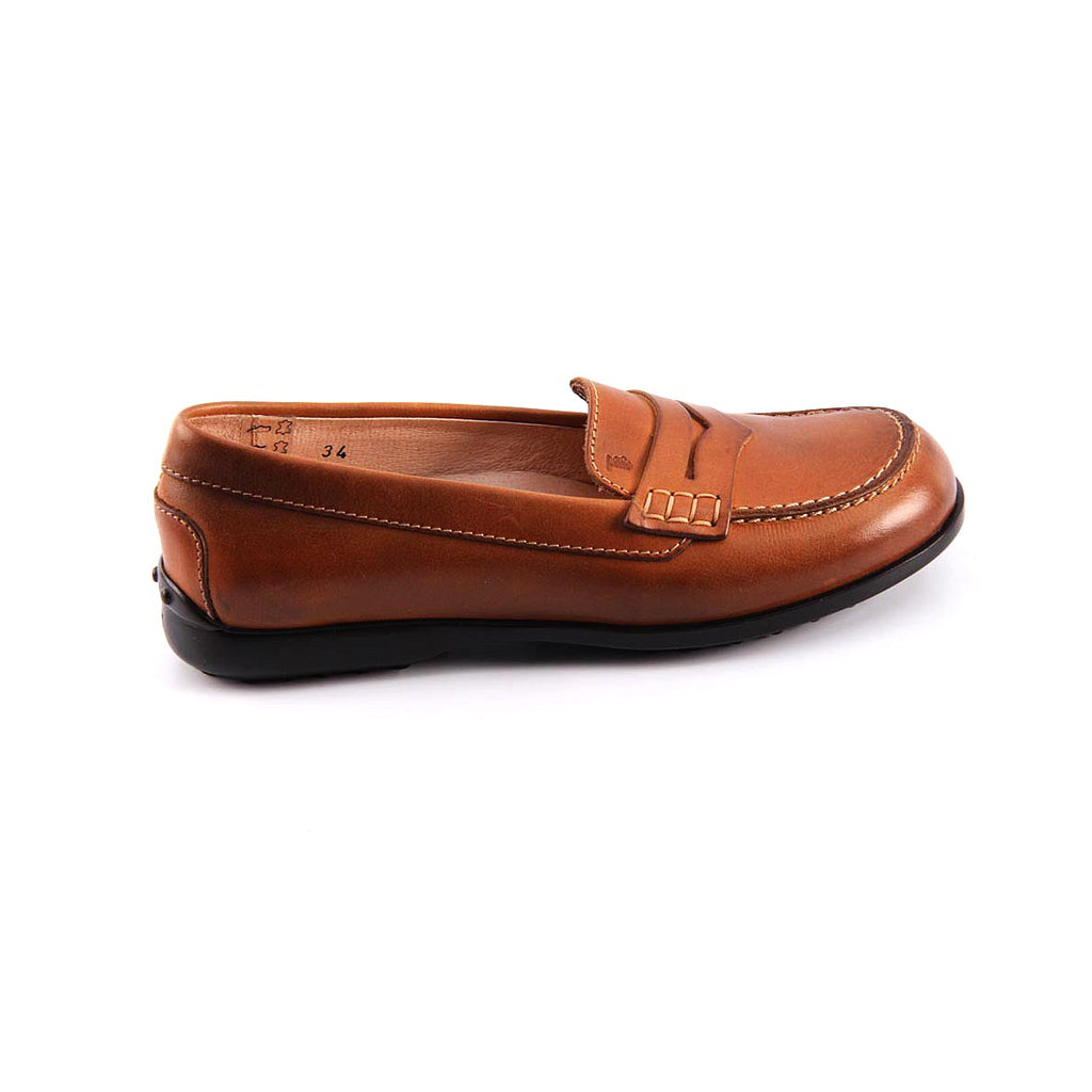 Tod's Kids Girls Loafers Brown - LeCITY