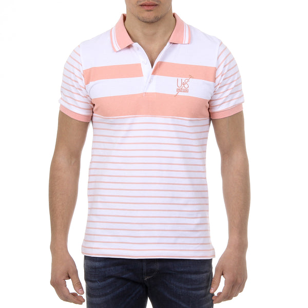 Ufford & Suffolk Polo Club Mens Polo Short Sleeves US006 PINK