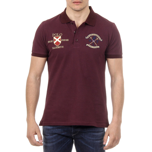 Ufford & Suffolk Polo Club Mens Polo Short Sleeves US007 BORDEAUX