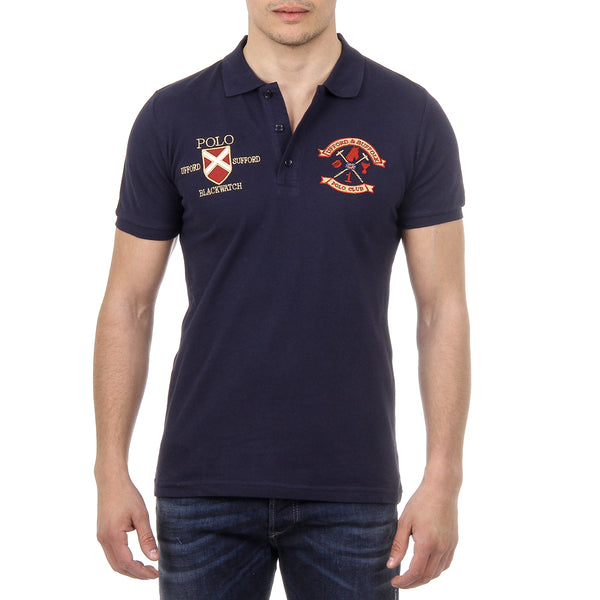 Ufford & Suffolk Polo Club Mens Polo Short Sleeves US007 NAVY BLUE