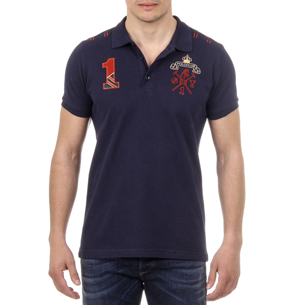 Ufford & Suffolk Polo Club Mens Polo Short Sleeves US008 NAVY BLUE
