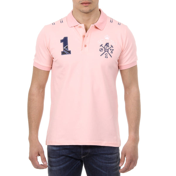 Ufford & Suffolk Polo Club Mens Polo Short Sleeves US008 PINK