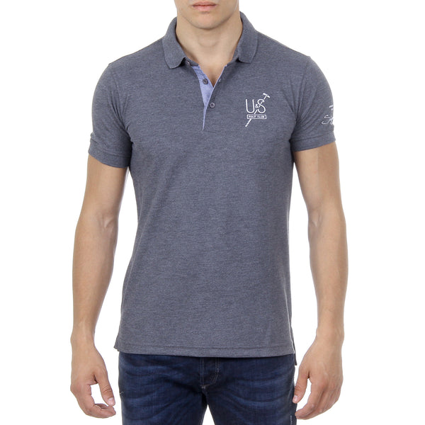 Ufford & Suffolk Polo Club Mens Polo Short Sleeves US026 ANTHRACITE