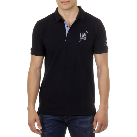 Ufford & Suffolk Polo Club Mens Polo Short Sleeves US026 BLACK