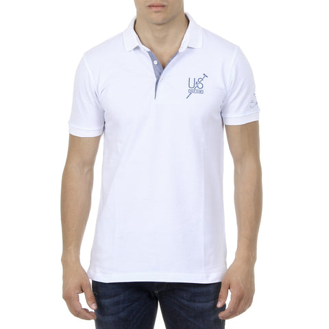 Ufford & Suffolk Polo Club Mens Polo Short Sleeves US026 WHITE