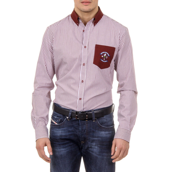 Ufford & Suffolk Polo Club Mens Shirt USC01 A3 BORDEAUX