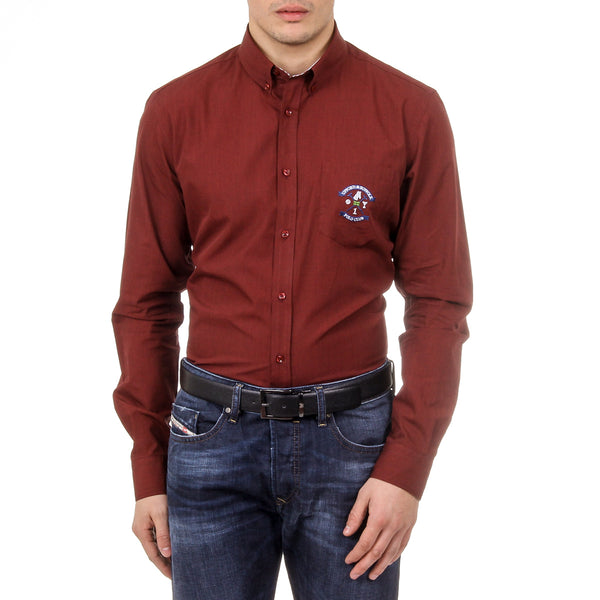 Ufford & Suffolk Polo Club Mens Shirt USC02 B3 BORDEAUX