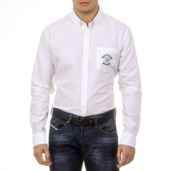 Ufford & Suffolk Polo Club Mens Shirt USC03 C1 BIANCO
