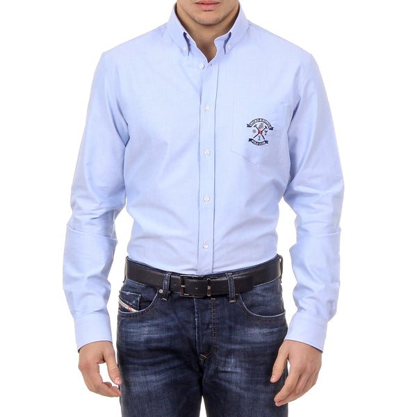 Ufford & Suffolk Polo Club Mens Shirt USC03 C2 AZZURRO CHIARO