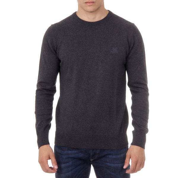 Ufford & Suffolk Polo Club Mens Sweater Long Sleeves Round Neck PULLRUS100 ANTHRACITE