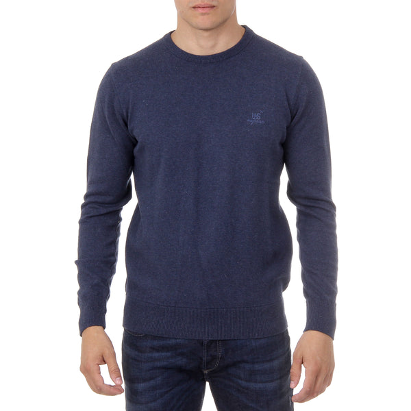 Ufford & Suffolk Polo Club Mens Sweater Long Sleeves Round Neck PULLRUS100 DARK BLUE