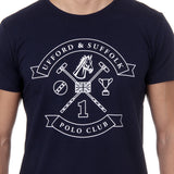 Ufford & Suffolk Polo Club Mens T-Shirt Short Sleeves Round Neck US027 NAVY BLUE