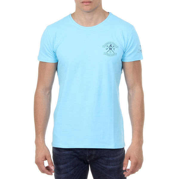 Ufford & Suffolk Polo Club Mens T-Shirt Short Sleeves Round Neck US028 BLUE
