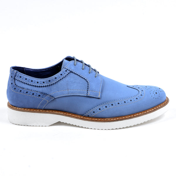 V 1969 Italia Mens Brogue Oxford Shoe Blue PEDRO