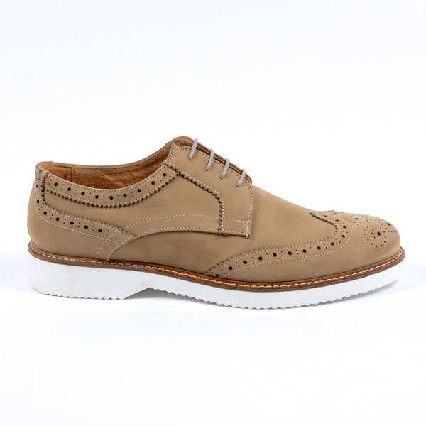 V 1969 Italia Mens Brogue Oxford Shoe Taupe PEDRO