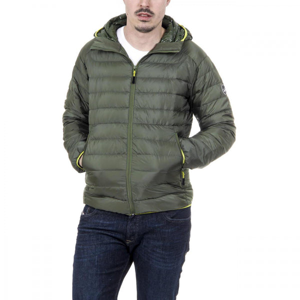 V 1969 Italia Mens Down Jacket ARTICO ARMY GREEN