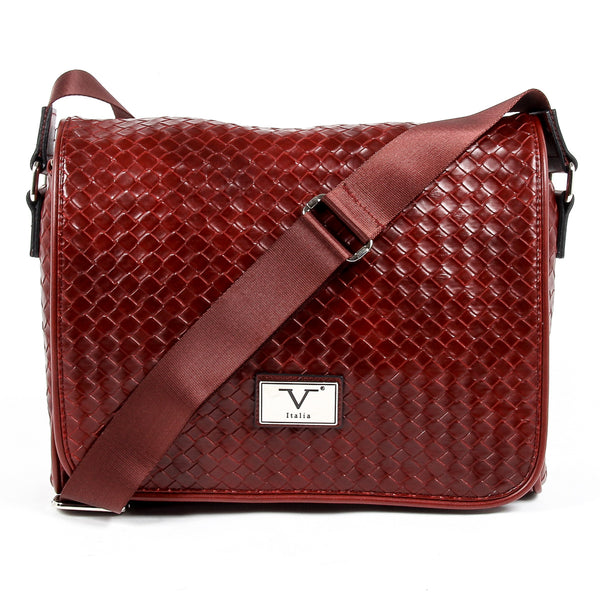 V 1969 Italia Mens Handbag Dark Red LEROY