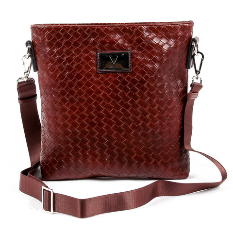 V 1969 Italia Mens Shoulder Bag Dark Red ROD