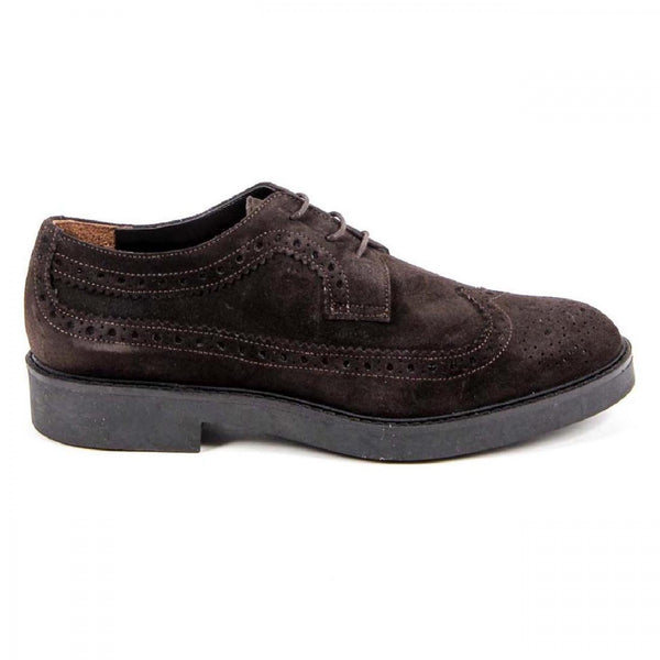 V 1969 Italia Womens Brogue Shoe B1670 VELOUR T. MORO