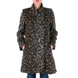 V 1969 Italia Womens Coat Long Sleeves Brown CHEYENNE