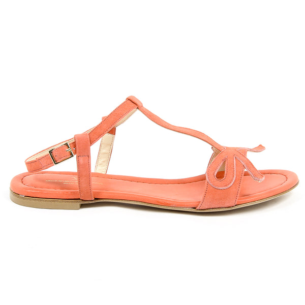 V 1969 Italia Womens Flat Sandal Orange LISA