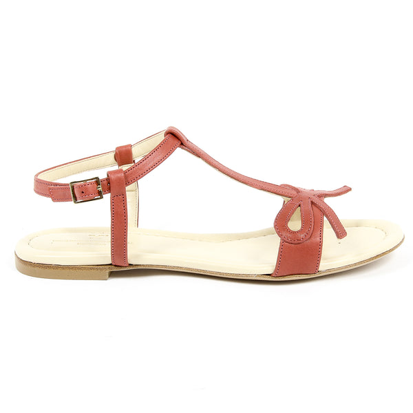 V 1969 Italia Womens Flat Sandal Red LISA