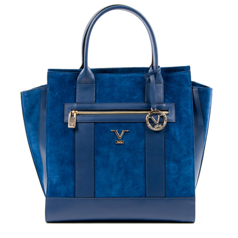 V 1969 Italia Womens Handbag Blue CANVAS