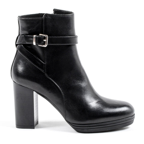 V 1969 Italia Womens Heeled Ankle Boot Black SAMANTHA