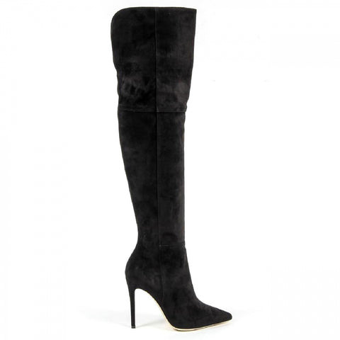 V 1969 Italia Womens High Boot 3103075 CAMOSCIO NERO