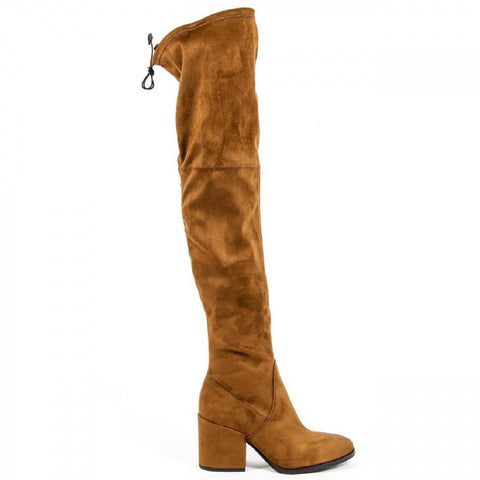 V 1969 Italia Womens High Boot B2397 PASHA CUOIO 1-1010