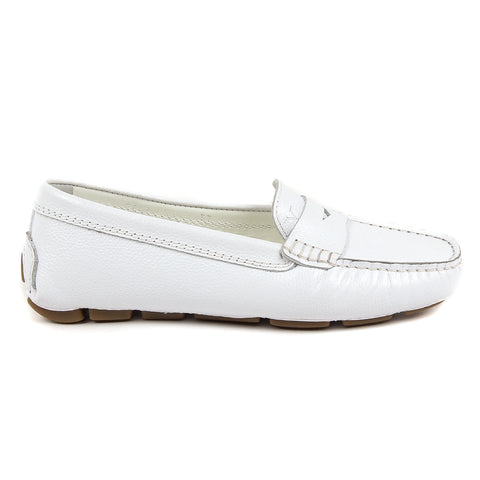 V 1969 Italia Womens Loafer White AMALFI