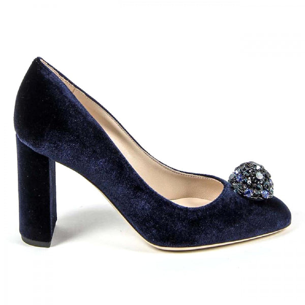 V 1969 Italia Womens Pump 3102045 VELLUTO BLU ROYAL