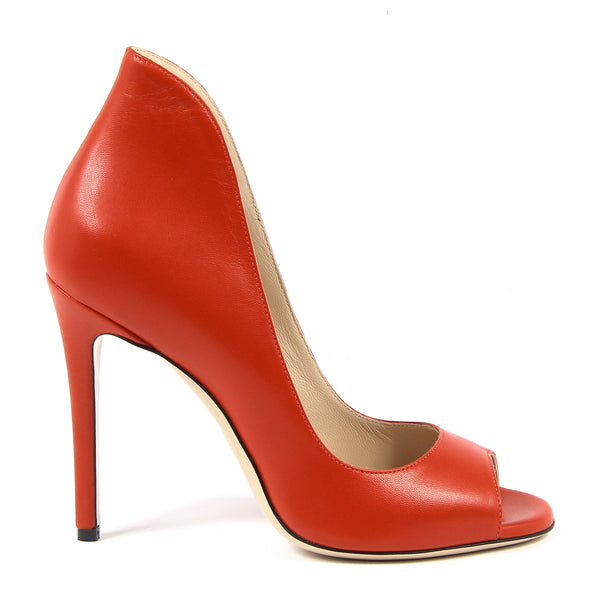 V 1969 Italia Womens Pump Open Toe Red STELLA