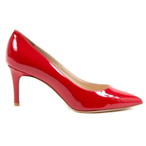 V 1969 Italia Womens Pump Red PAINT