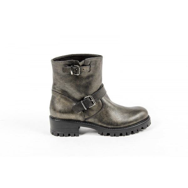V 1969 Italia Womens Short Boot B1441 NATURAL GOLD
