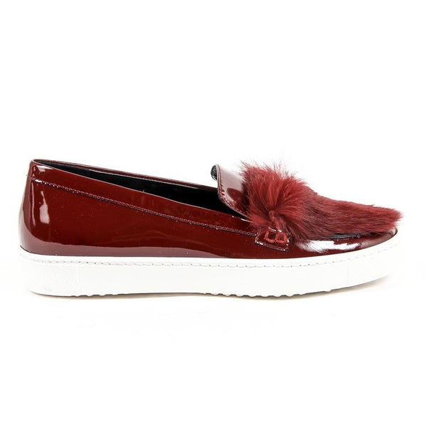 V 1969 Italia Womens Slip On Sneaker 312095 VER BORDEAUX-PELO BORDEAUX