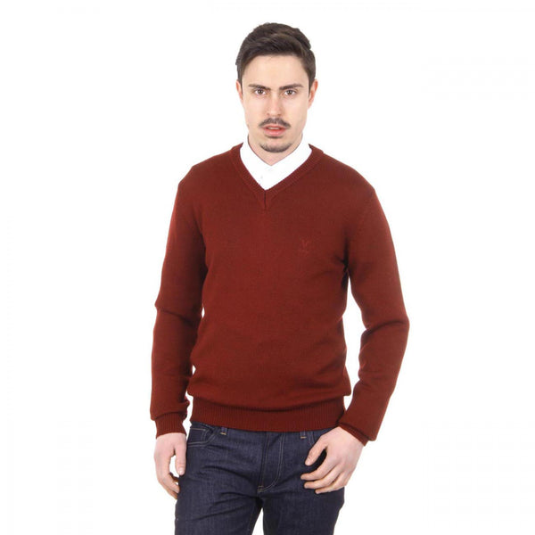 V 1969 Italia mens V neck sweater 9803 SCOLLO V BORDEAUX