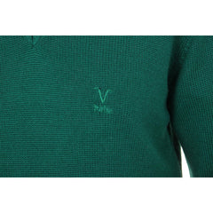 V 1969 Italia mens V neck sweater 9803 SCOLLO V VERDONE