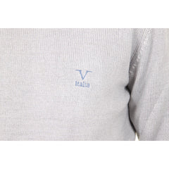 V 1969 Italia mens round neck sweater 9802 GIROCOLLO GRIGIO MEDIO
